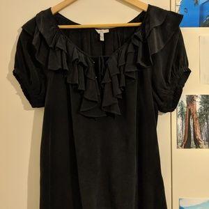 Silk Joie ruffle shirt